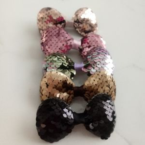 BNIP 10/$10 SMALL SEQUIN GIRL'S BOWS